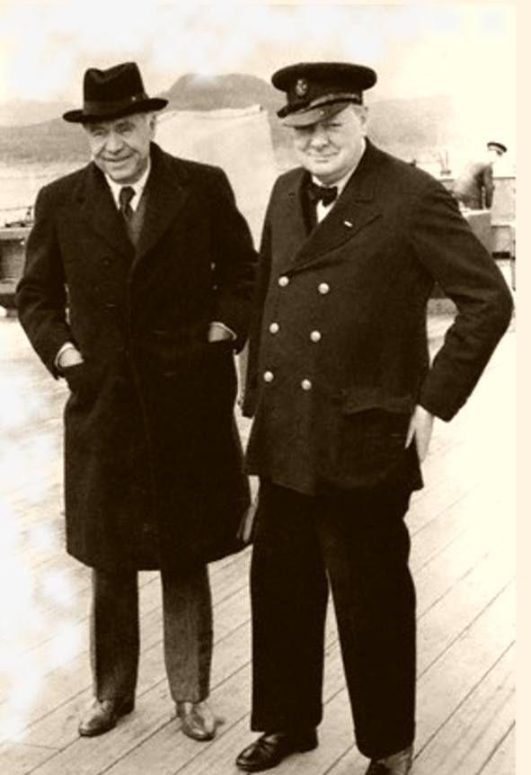 Лорд Бивербрук и Уинстон Черчилль
